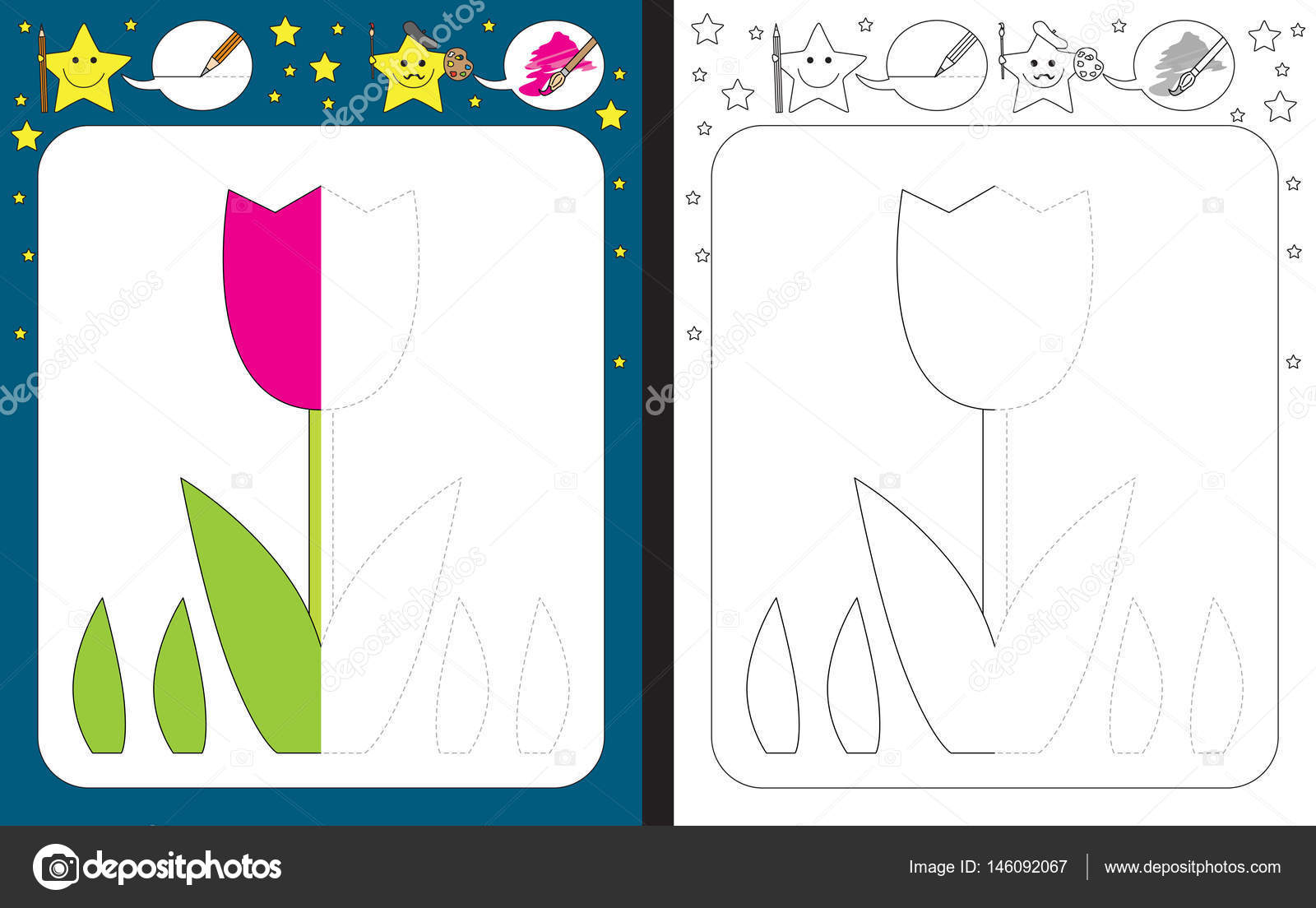 Illustrated preschool worksheet — Stock Vector © nahhan #146092067