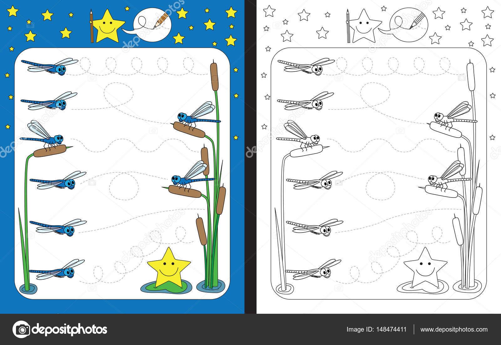 Illustrierte Vorschule Arbeitsblatt — Stockvektor © nahhan #148474411