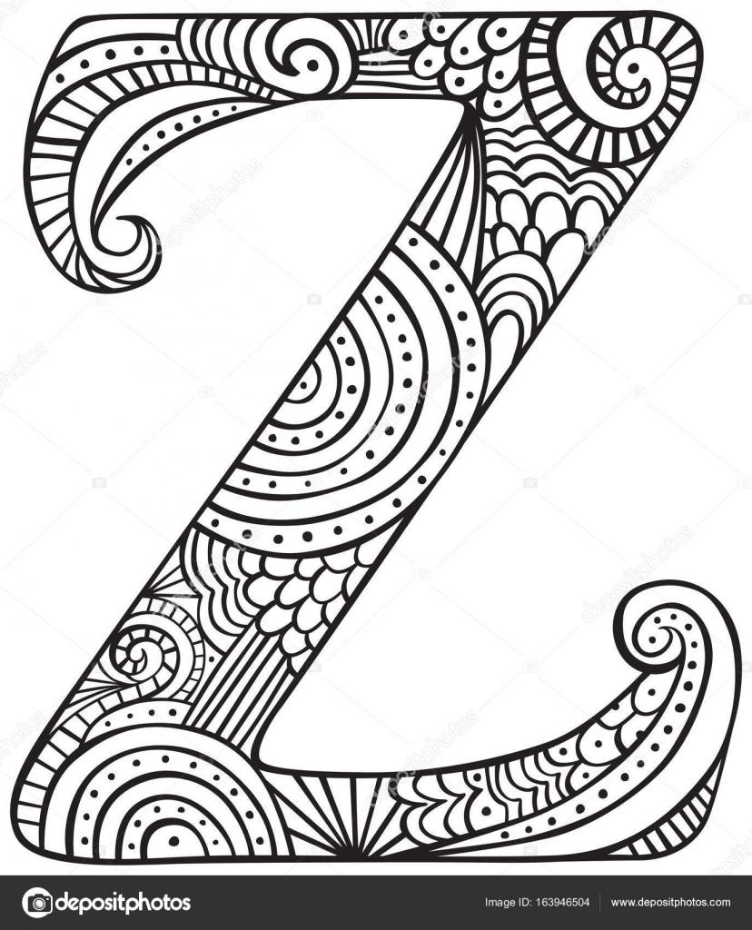 Imágenes La Letra Z Mayuscula Dibujo Letra Z Vector De