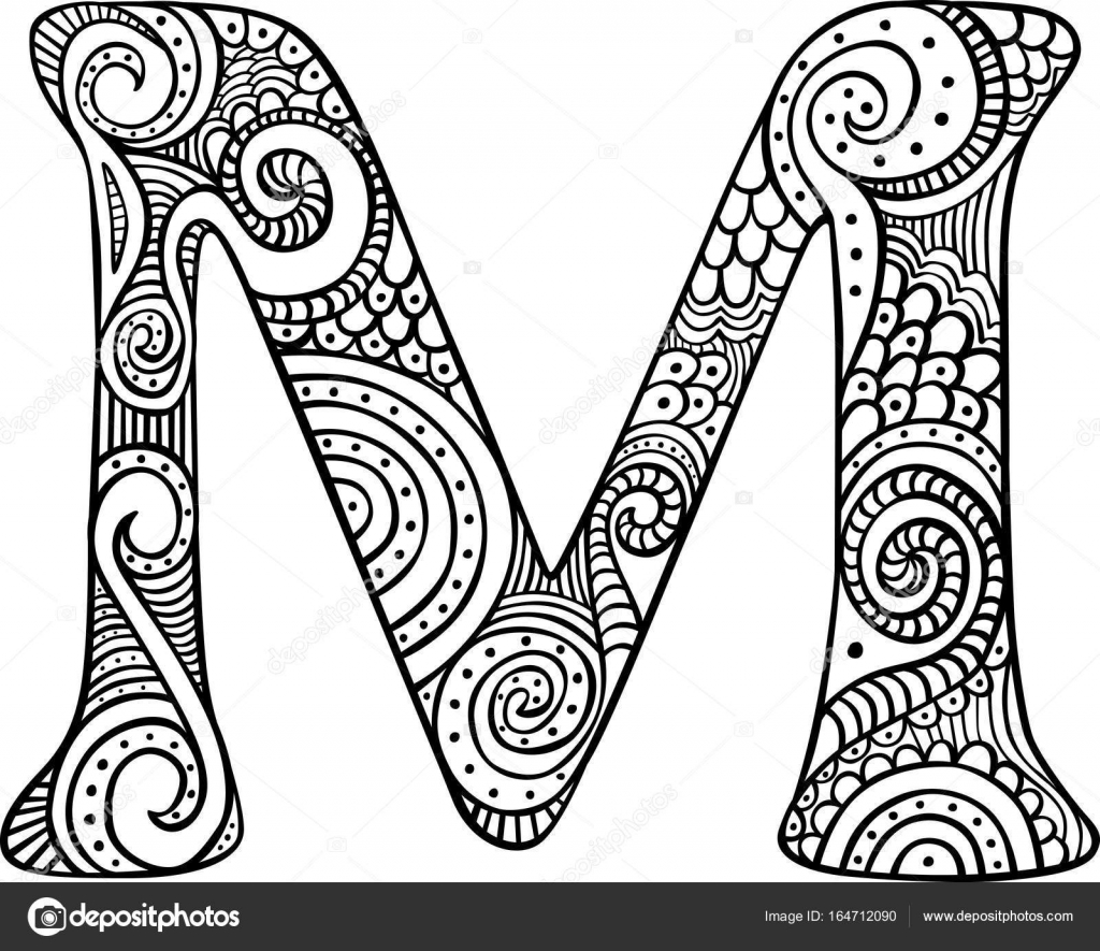 Dibujos Letra M Dibujo Letra M Vector De Stock Nahhan