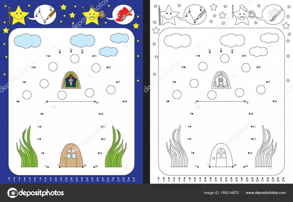 Hoja de trabajo de preescolar ilustrado — Archivo Imágenes ...