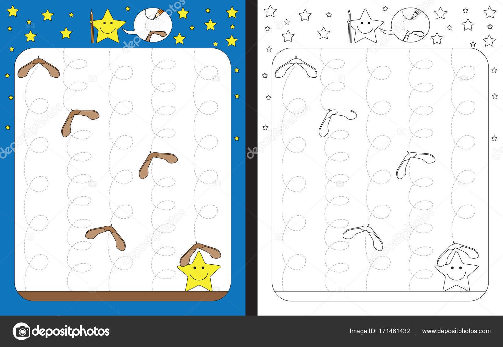 Illustratd Vorschule Arbeitsblatt — Stockvektor © nahhan #171461432