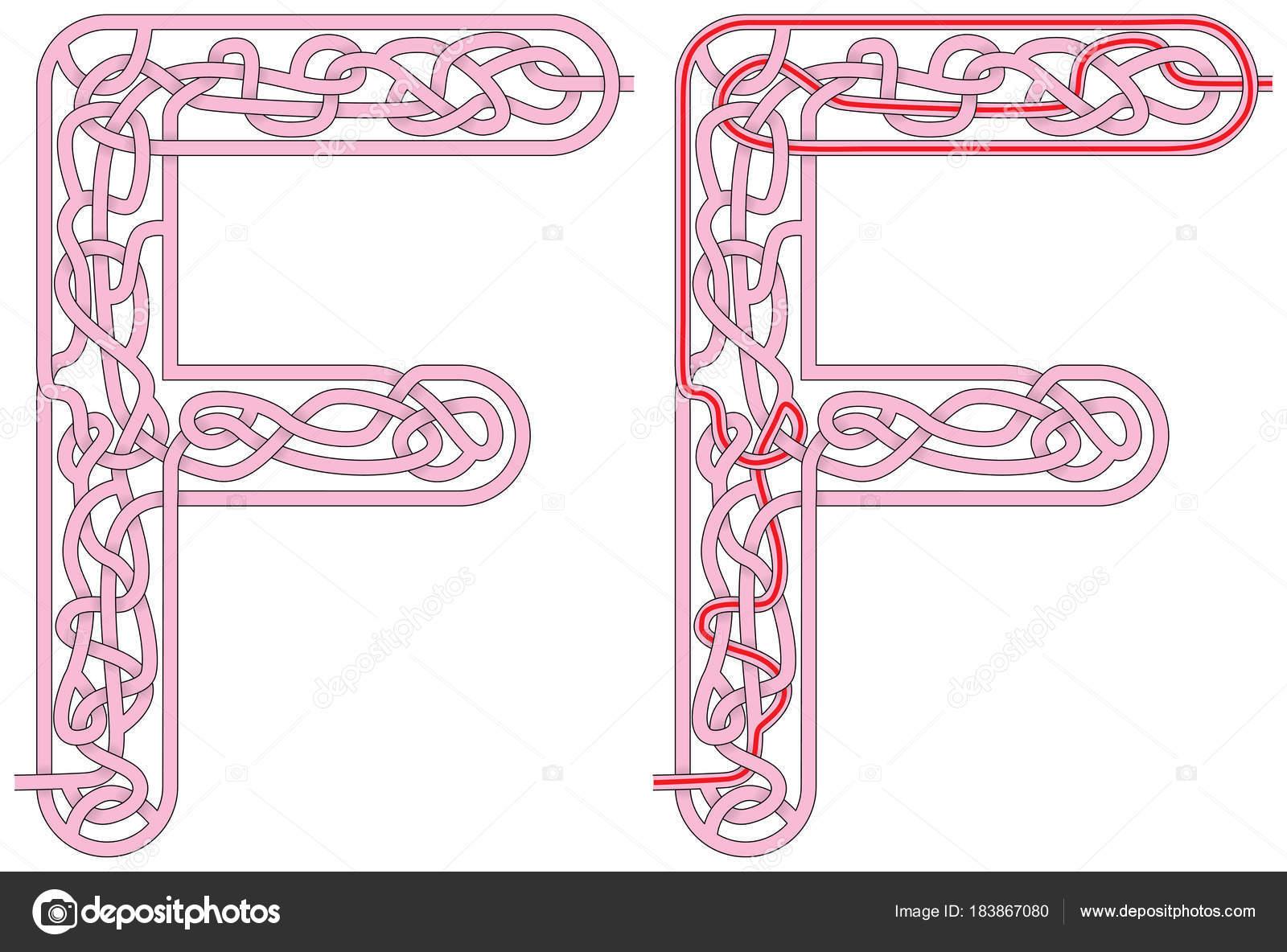 Labyrinth-Buchstabe M — Stockvektor © nahhan #183867080