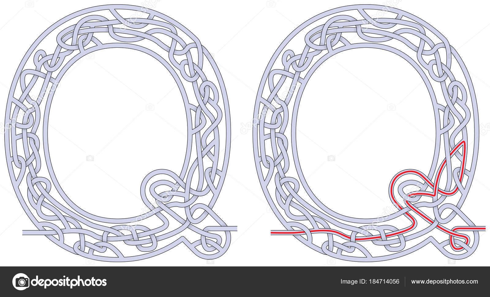 Labyrinth-Buchstabe Q — Stockvektor © nahhan #184714056