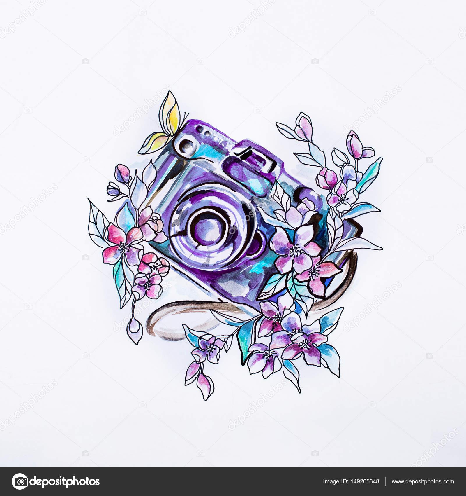 Imágenes A Color Bonitos Cámara De Dibujo En Bellas Flores En