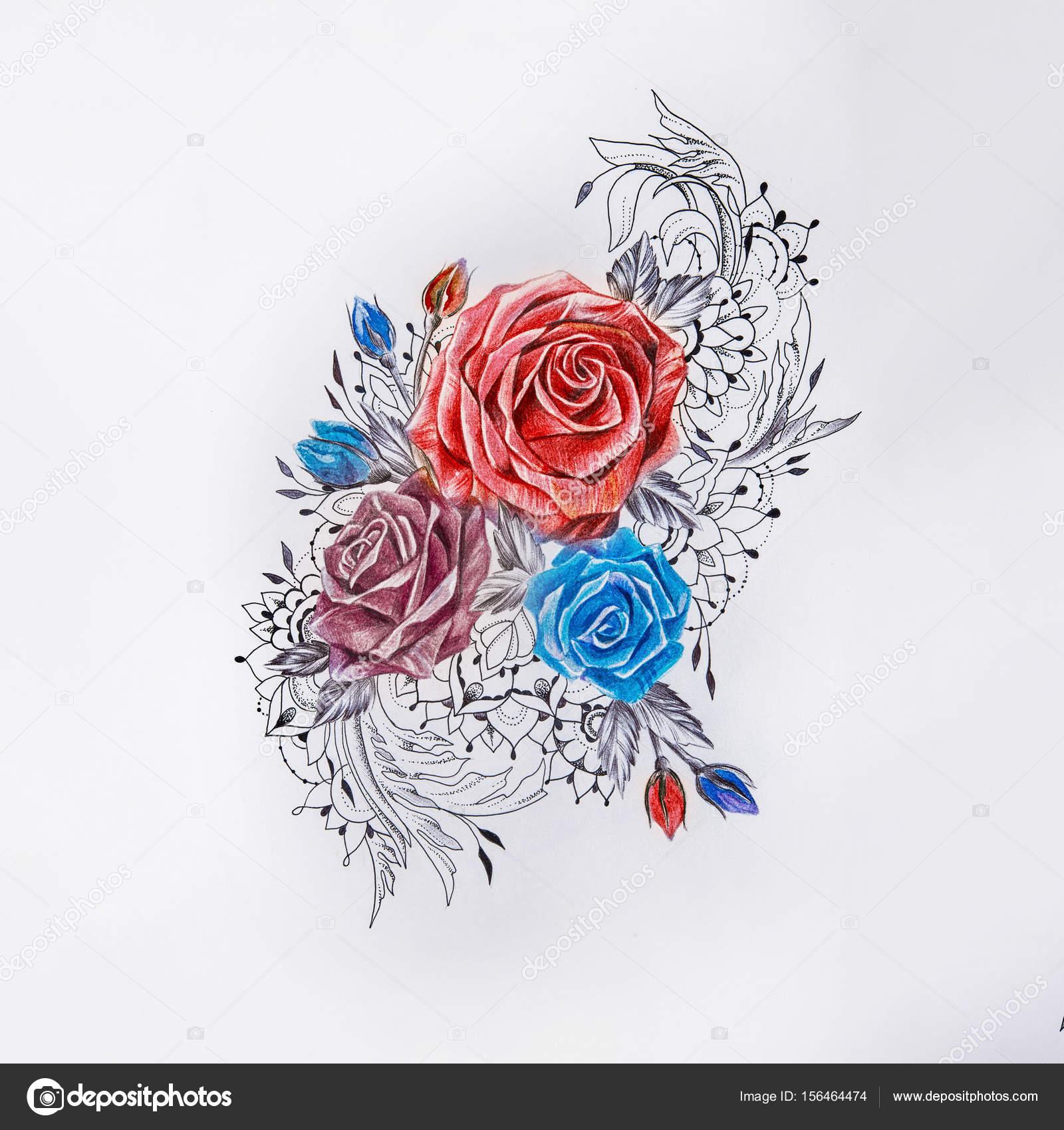 Imágenes Rosas Hermosas Para Dibujar Dibujo De Hermoso Coloridos