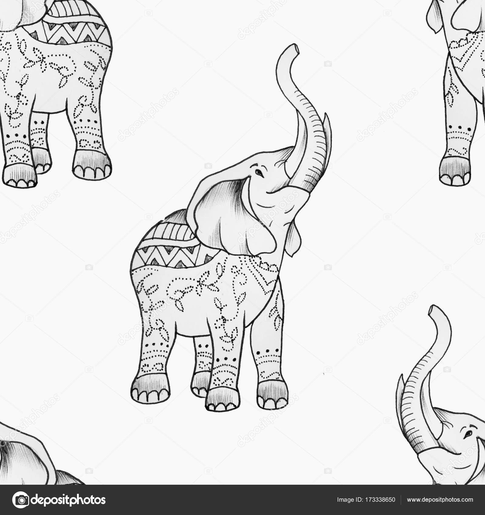 Imágenes: de elefantes bonitos | Dibujo de un elefante con bonitos ...