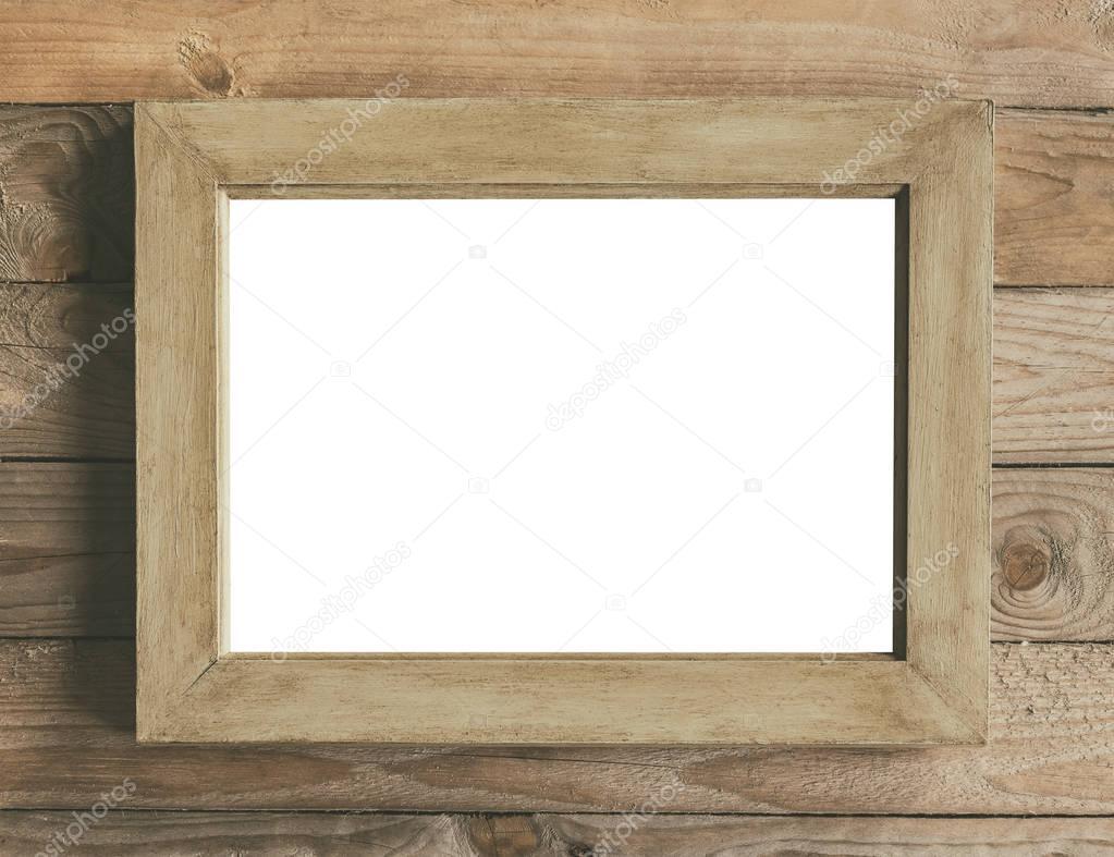 Rustic wooden frame mock up — Stock Photo © feferoni #130089792