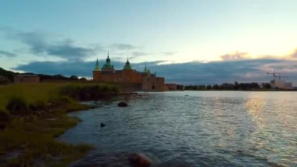 Východ slunce na Kalmar hrad