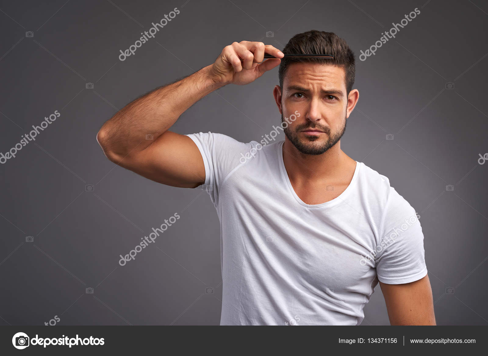 Young Man With Comb Stock Photo C Spectral 134371156