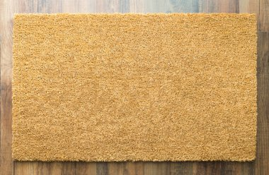 Blank Home Sweet Home Welcome Mat On Wood Floor