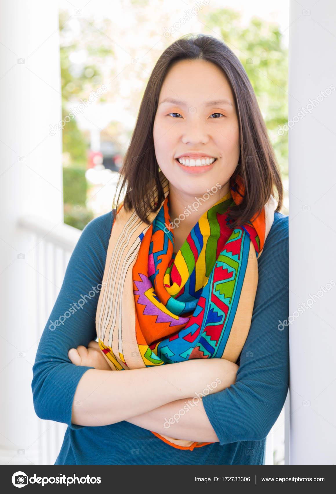 Attraktive chinesische Frau