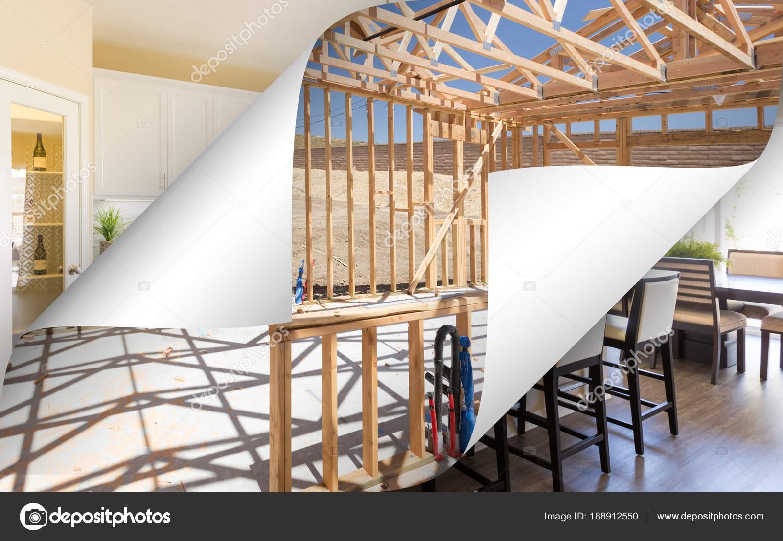 Küche mit Seite Ecken Umklappen Gestaltung Fertigstellung Foto ...