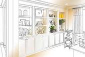 Fényképek Egyedi beépített polcok és szekrények Design rajz kész fotó Gradating