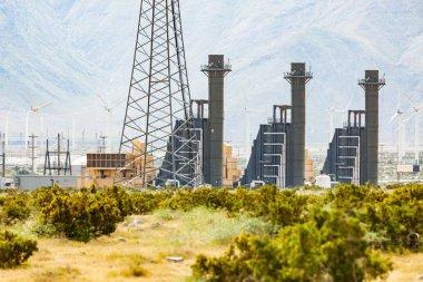 Wind Turbine Farm Industrial Site