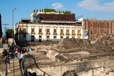 The ruins of the Templo Mayor, a major aztec temple in what is now Mexico City