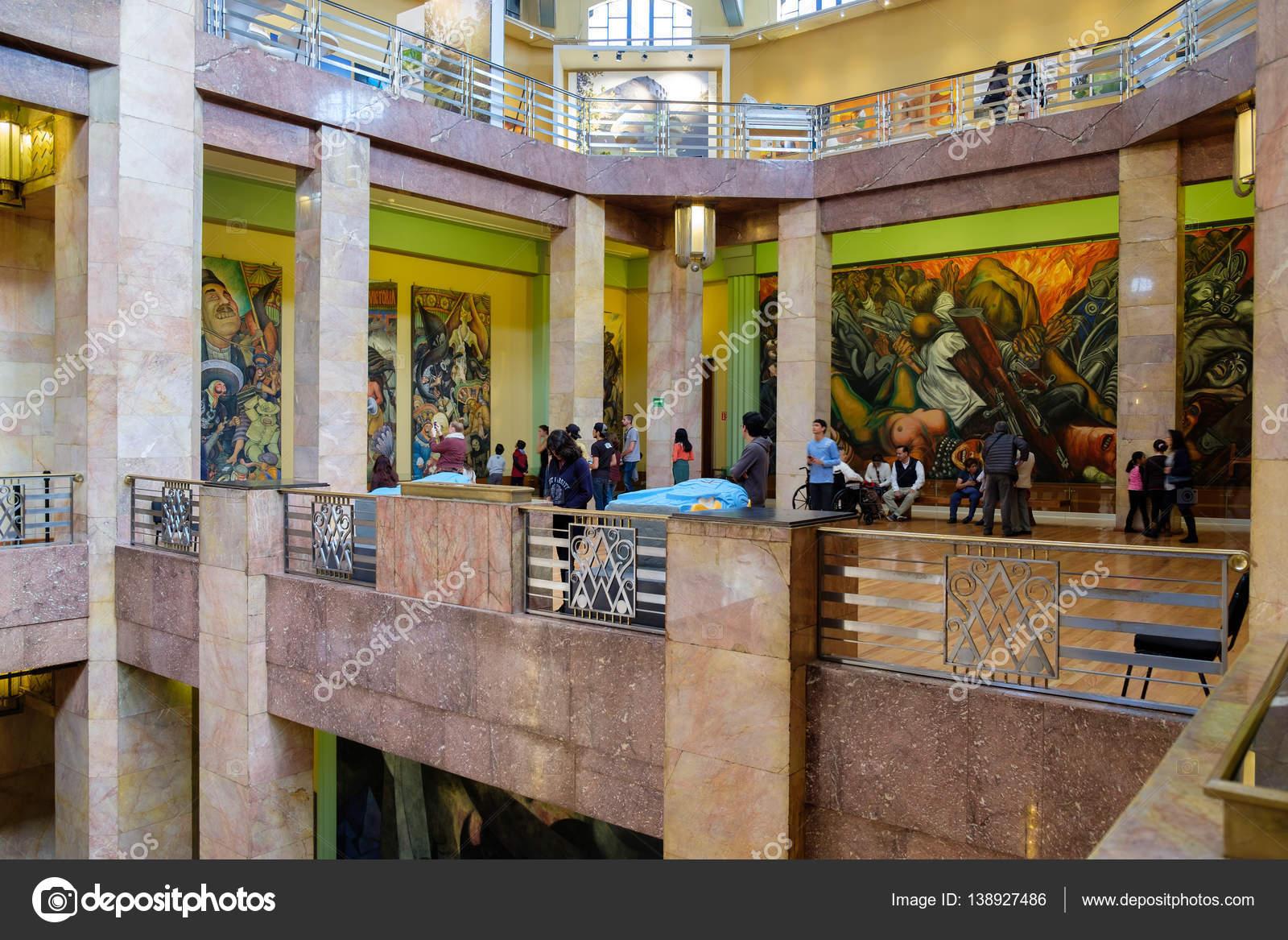 Murales En El Palacio De Bellas Artes Mexico