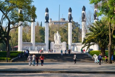 Monument to the young heroes at Chapultepec Park in Mexico City