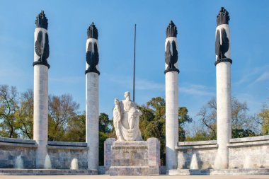 Monument dedicated to the heroes fallen defending Chapultepec castle in Mexico City