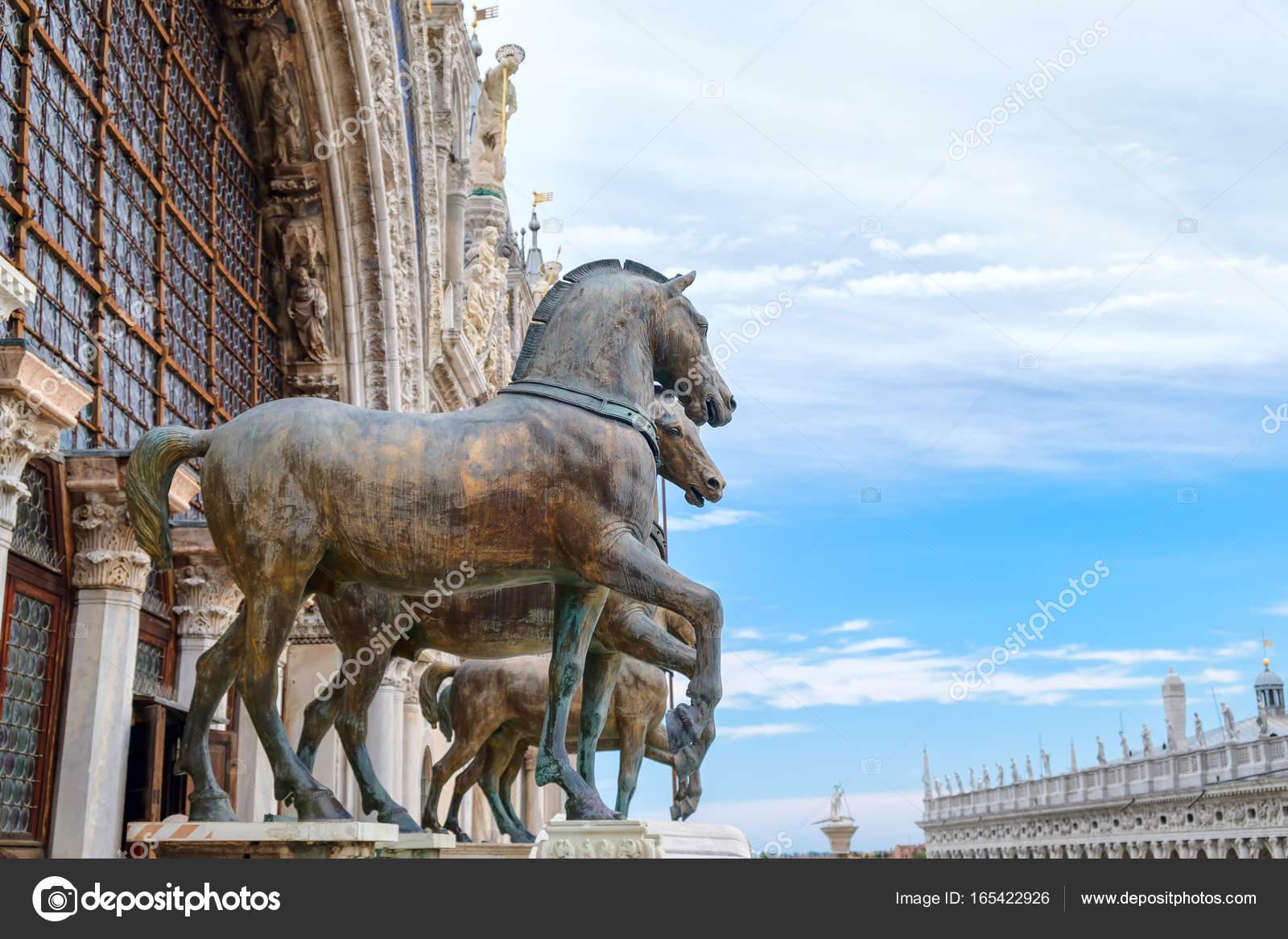 Los caballos de San Marcos en la Catedral de San Marcos en Venecia ...
