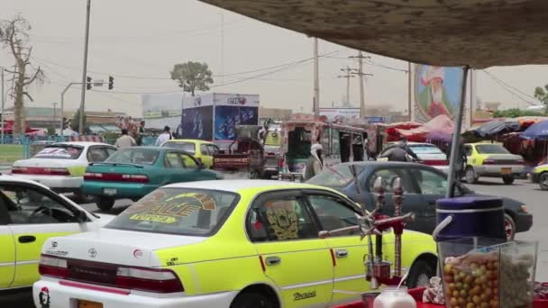 Street traffic in Mazar-i-Sharif, North Afghanistan, in 2018