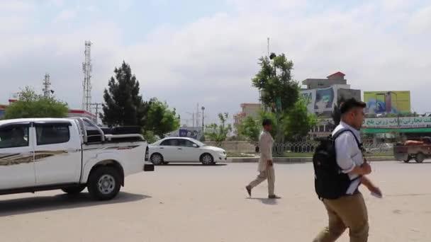 Street traffic in Mazar-i-Sharif, North Afghanistan, in 2019