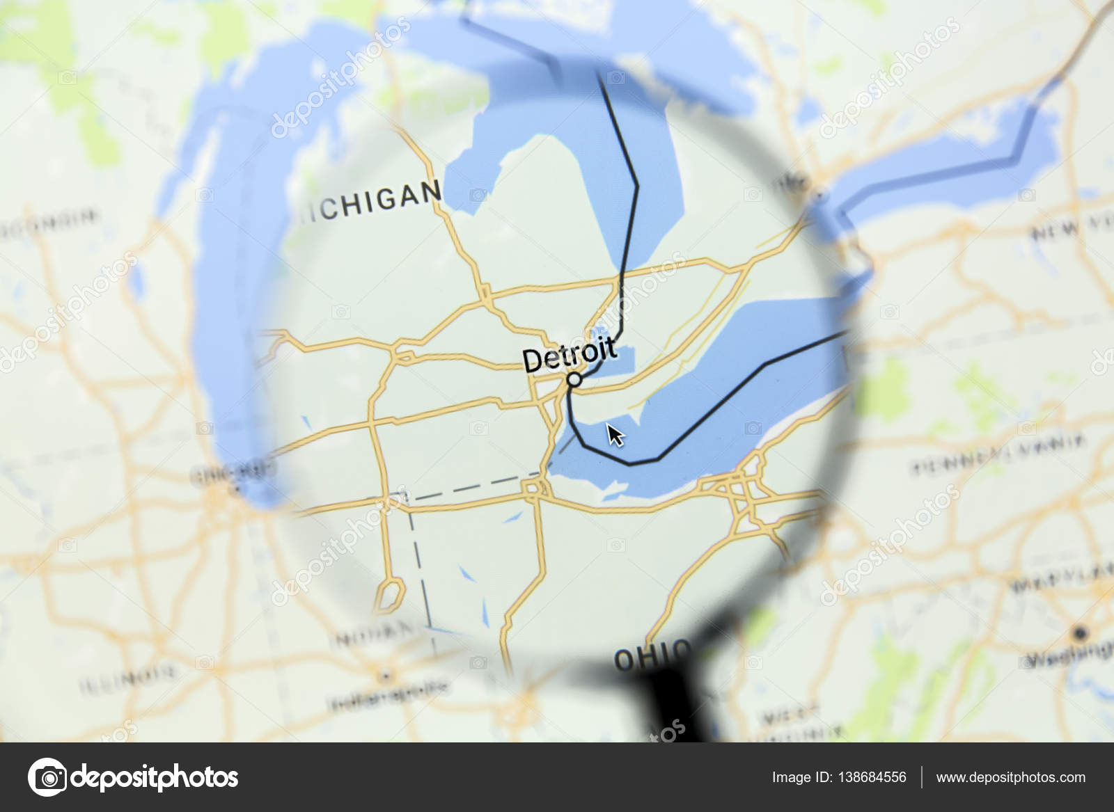 Detroit on Google Maps – Stock Editorial Photo © ibphoto #138684556