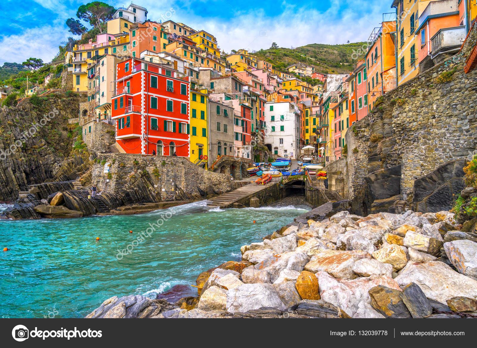Riomaggiore Cinque Terre Parc National Ligurie Italie
