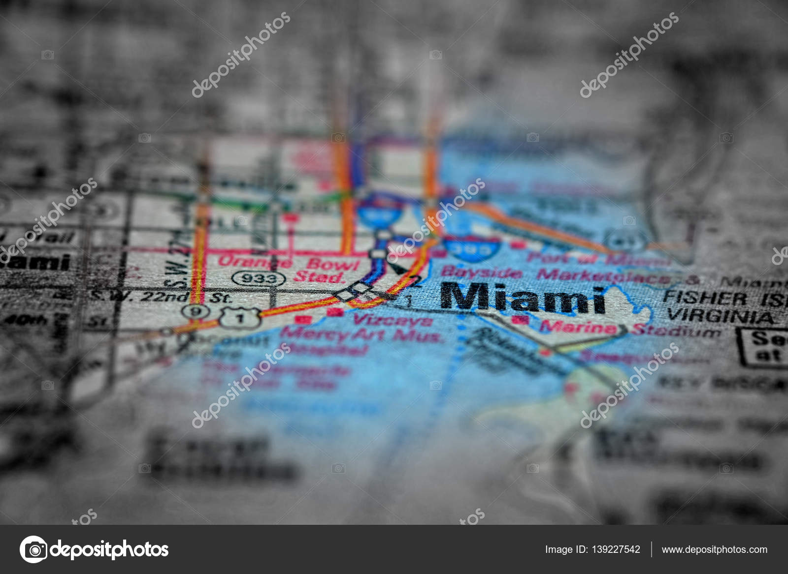 Map Destinations Florida.Map View For Travel To Locations And Destinations Miami Florida
