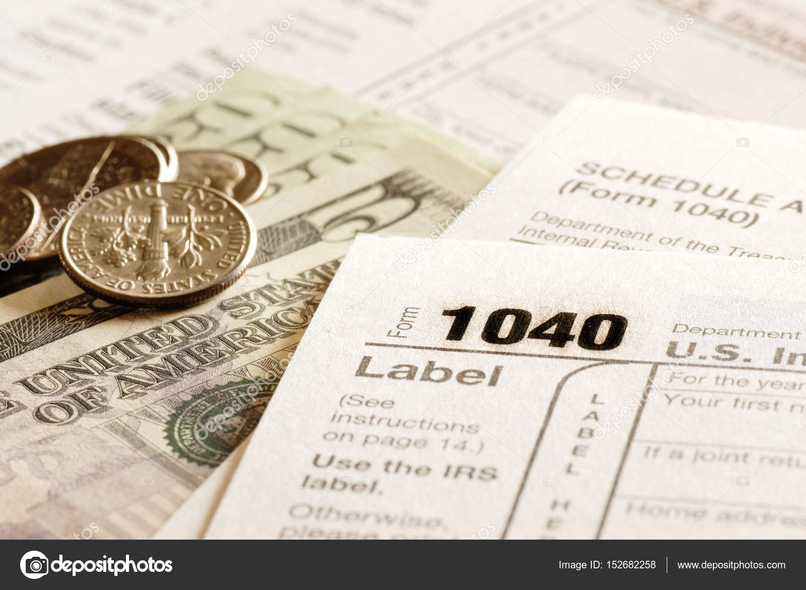 Tax Forms 1040 For Irs Stock Photo Eric1513 152682258