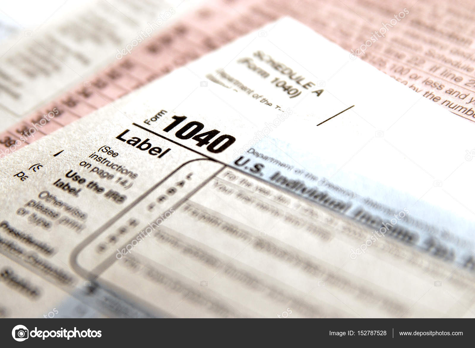 Tax Forms 1040 for IRS — Stock Photo © eric1513 #152787528