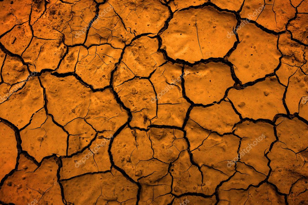 Desert Dried Mud Parched Dirt Earth Representing Climate Change