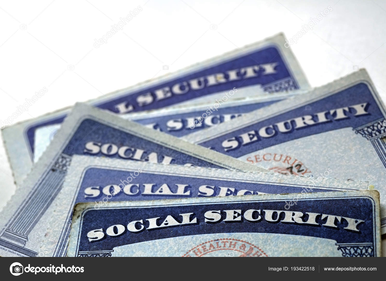 Karty Social Security W Kupie Wiersz Na Emeryturę Zdjęcie