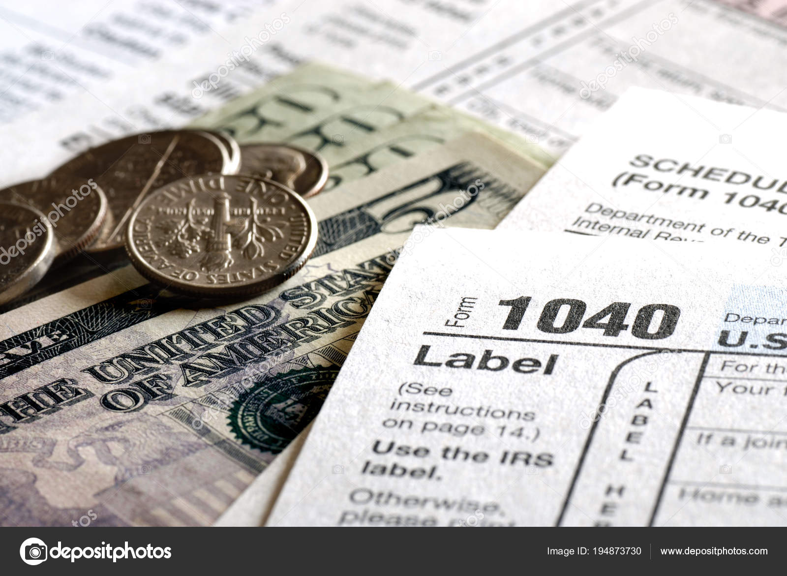 Tax Forms 1040 for IRS — Stock Photo © eric1513 #194873730