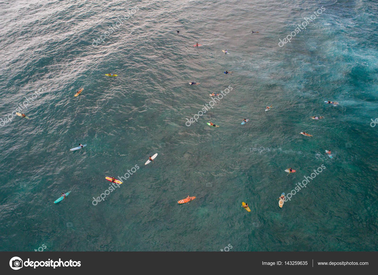 Aerial Image Of Surfers In The Ocean Photo By Felixtm