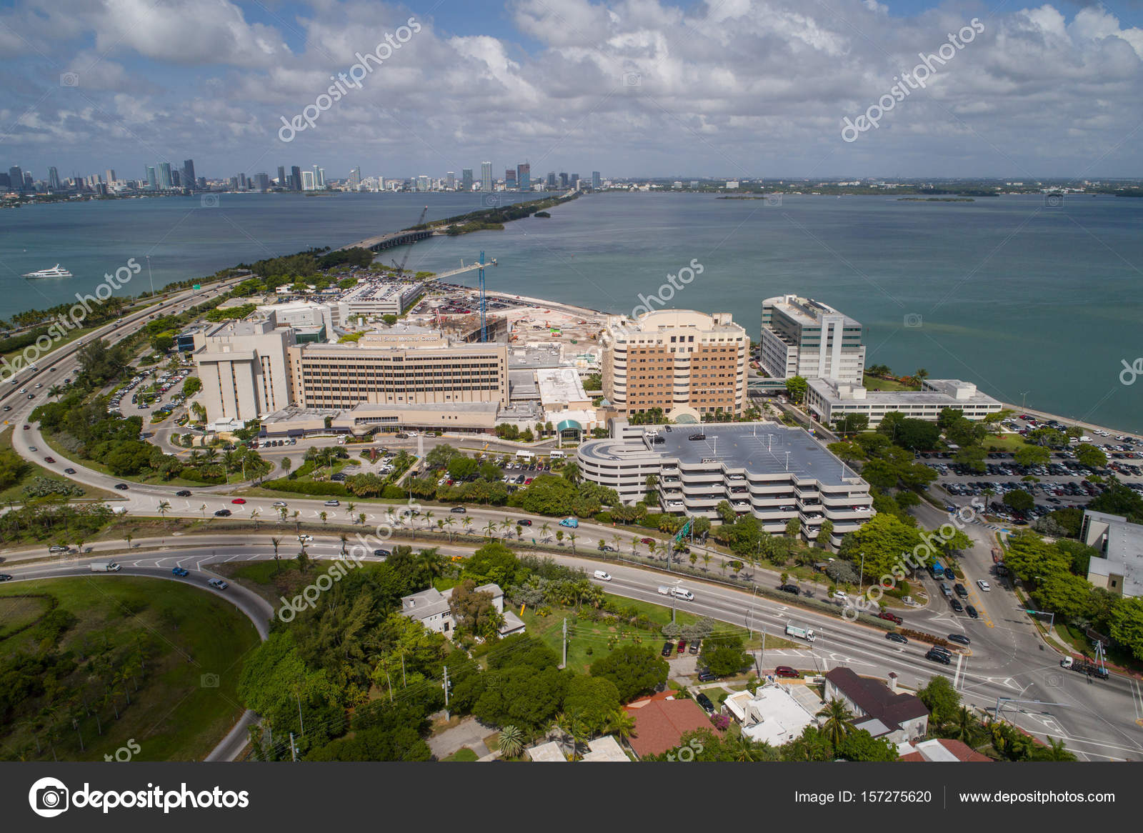 Mount Sinai Medical Center Miami Beach aerial image — Stock