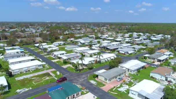 Trailer homes destroyed by Hurricane Irma Florida