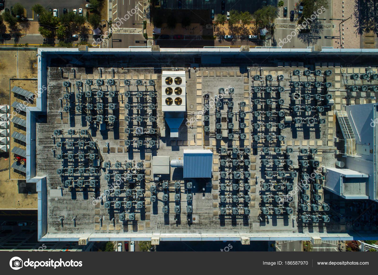 Aerial view rooftop hvac — Stock Photo © felixtm #186587970