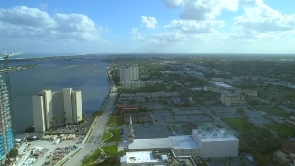 Aerial shot of the Trianon Condominium West Palm Beach Florida