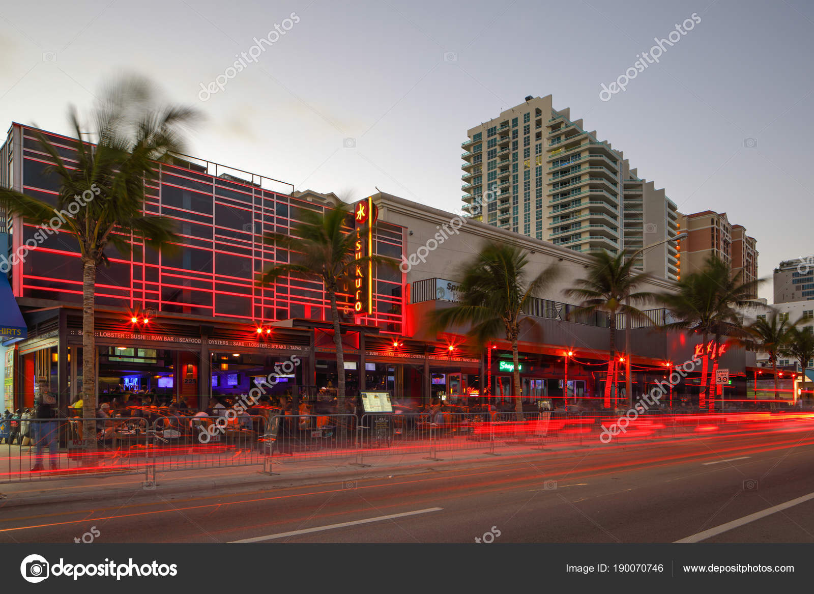 Restaurants And Bars On Fort Lauderdale Beach Florida Stock