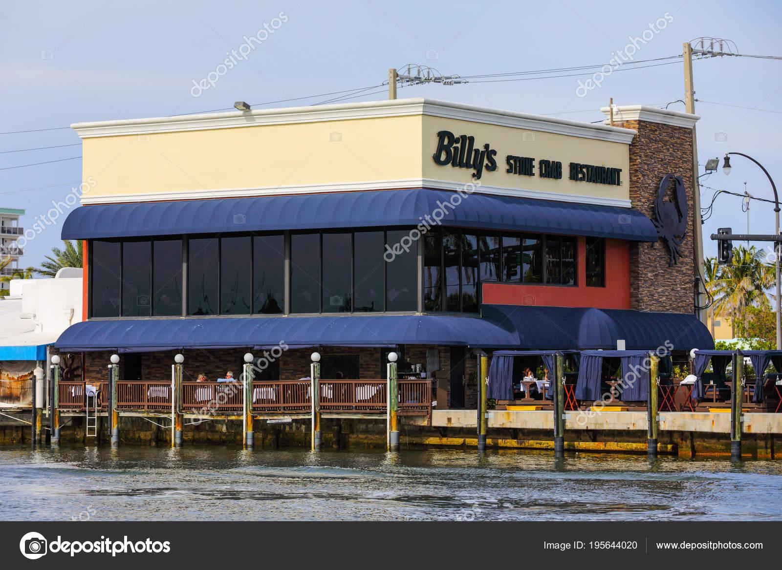 Billys Stone Cram Restaurant Hollywood Beach Florida Stock