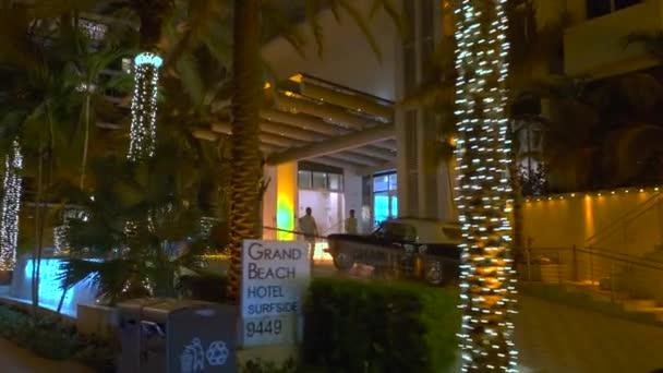 Night Motion Video Grand Beach Hotel Surfside Florida Miami Beach Stock Video C Felixtm 327310980