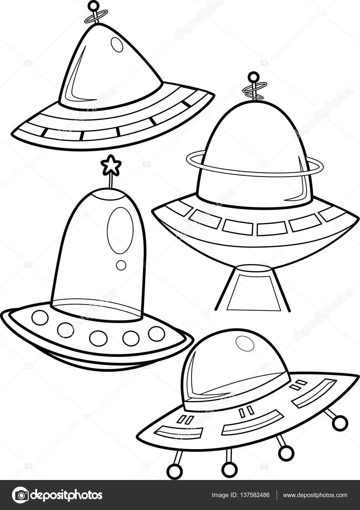 Spaceship Coloring Page — Stock Photo © lenmdp #137582486