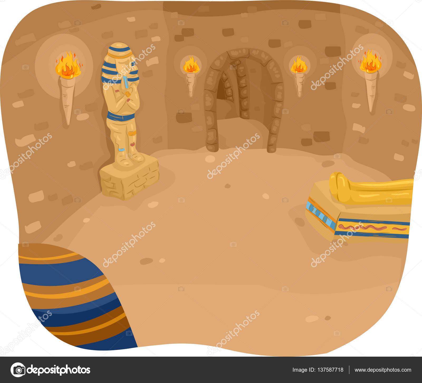 Ägyptische Pyramiden-Interieur — Stockfoto © lenmdp #137587718