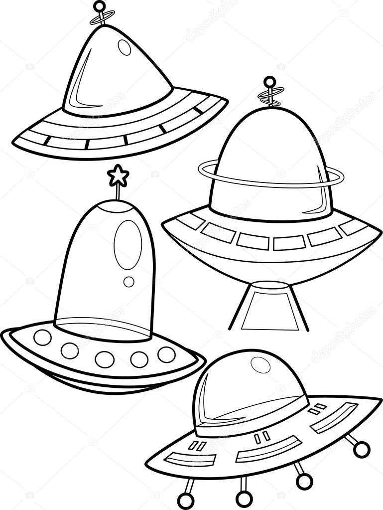 Pagina da colorare di astronave — foto stock lenmdp