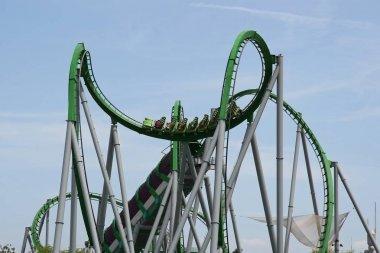 Amsuement Park Roller Coaster Ride