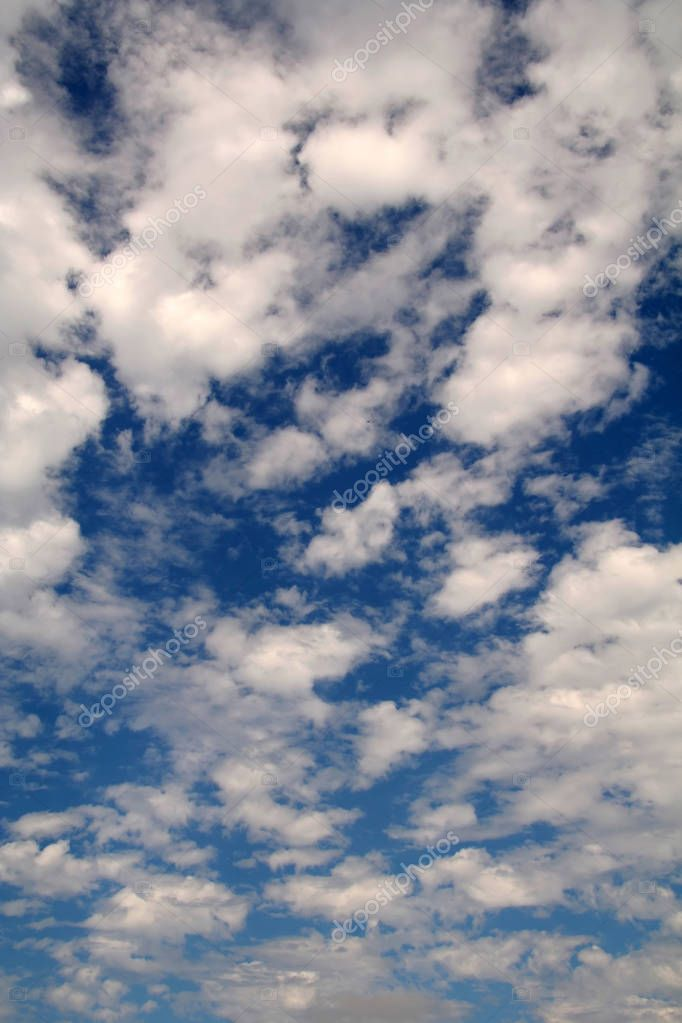 Clouds in the Sky with a Blue Back Drop