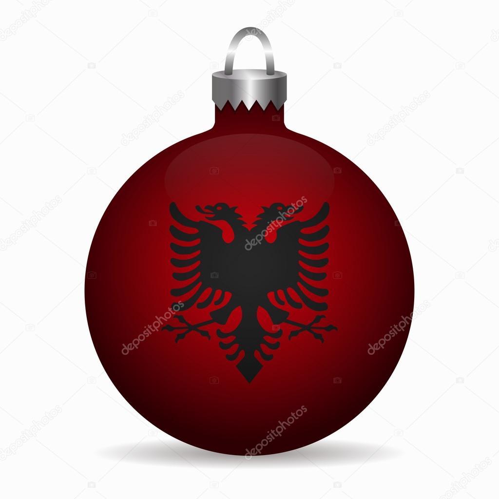 Auguri Di Natale In Albanese.Albania Bandiera Palla Di Natale Vettore Vettoriali Stock C Noche0
