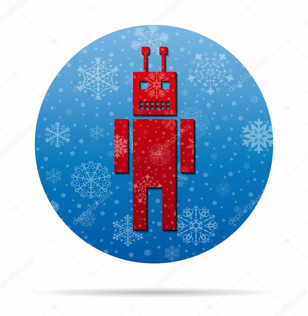 android christmas icon in circle