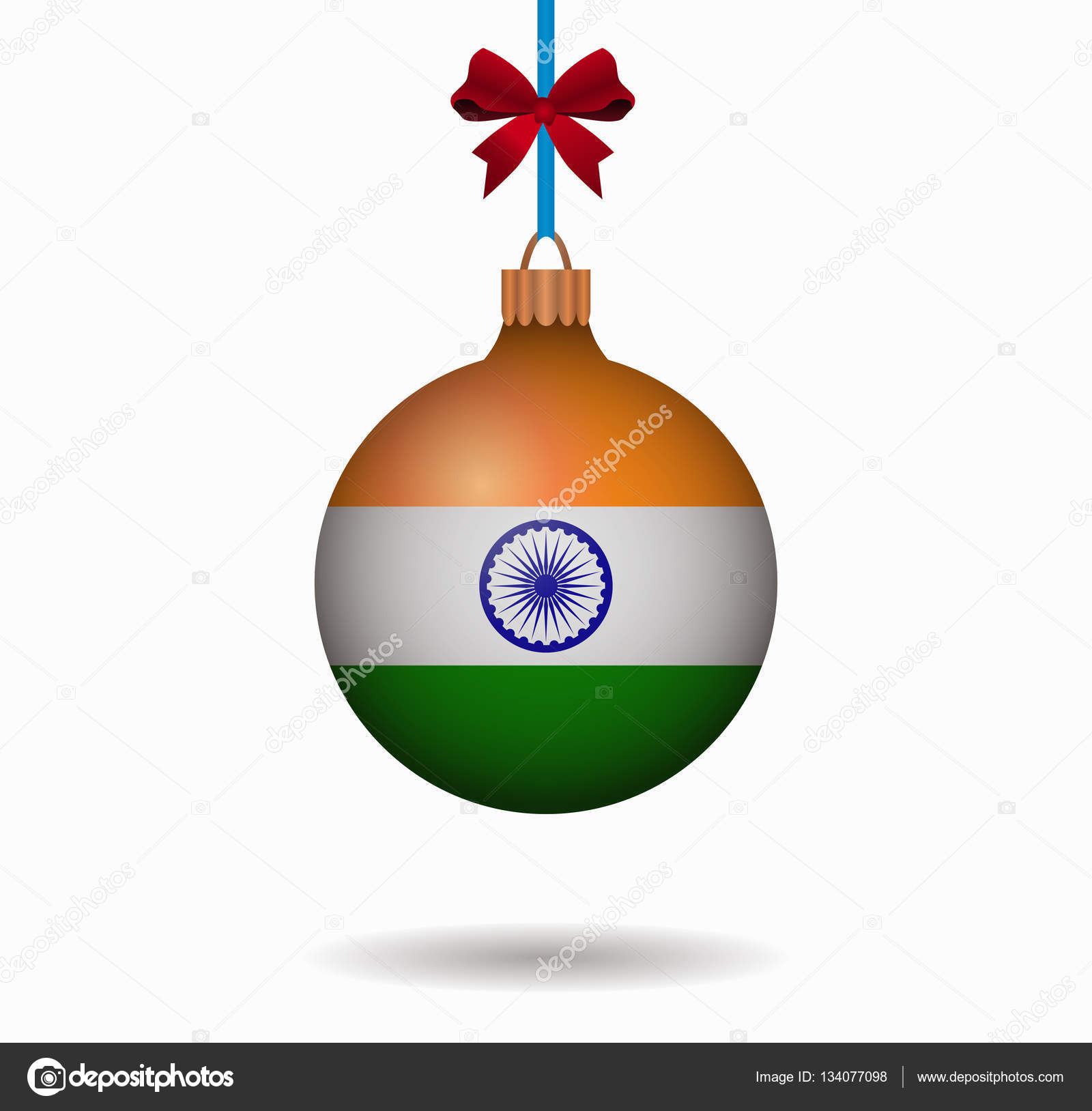 isolated christmas ball india — Stock Vector © noche0 #134077098